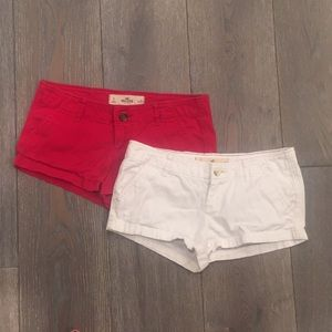 Bundle of Hollister Shorts (2) Red and White